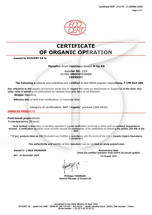 NOP Zertifikat bis 08.2021